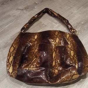 Large leather bag (faux snakeskin embossed)